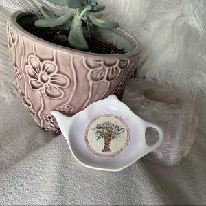 Regency Made in England Bone China Tea Bag Dish
